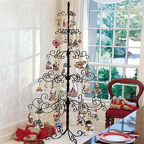 black rod iron christmas tree stand wrought iron tree metal stand ornament display 7 foot easter g ebay