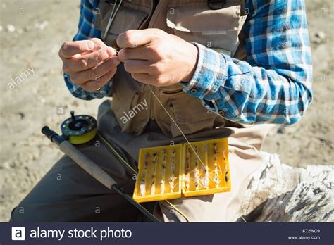 Tying During Section by Tying On Fly Stock Photos Tying On Fly Stock Images Alamy