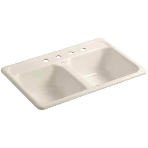 kohler delafield cast iron sink kohler iron tones smart divide top mount undermount cast