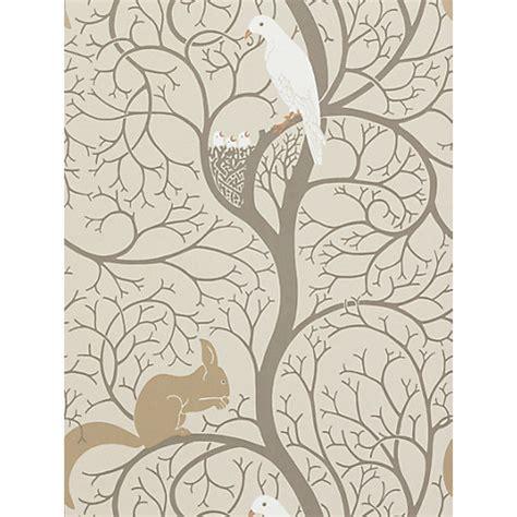 wallpaper for walls john lewis buy sanderson squirrel dove wallpaper dviwsq101 linen