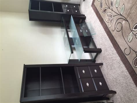 sauder tv stand and side book shelves vancouver 98686
