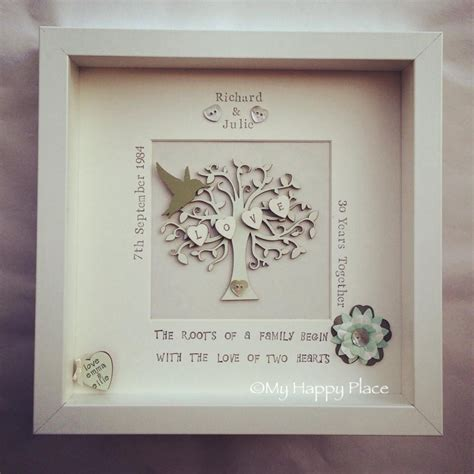Handmade Family Tree Ideas - beautiful personalised wooden family tree crafty