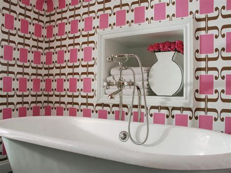 colorful wallpaper for bathroom our favorite bright bold bathrooms hgtv