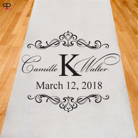 Wedding Aisle Runner Personalized by Personalized Wedding Aisle Runner Ppd2929 2518073