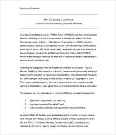 executive summary template word 31 executive summary templates free sle exle