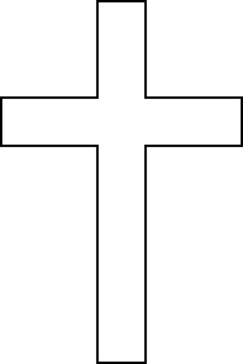 Cross Outline by Image Of A Cross Clipart Best