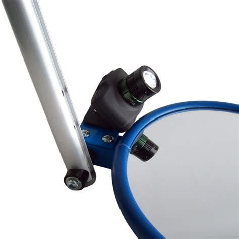 inspection mirror with light 230mm heavy duty inspection mirror with handle