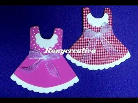 diy como hacer vestidito rosa recuerdo bautizo youtube c 243 mo hacer vestidos de foamy para baby shower 3 a 209 os
