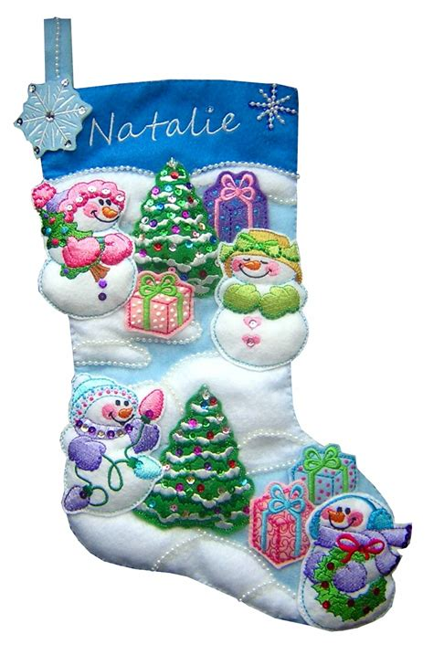 embroidery patterns for christmas stocking snowmen sew in the hoop treatbags embroidery designs