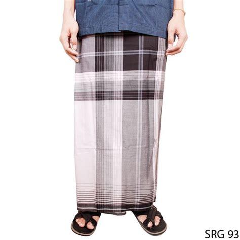 Celana Sarung Dewasa Putih sarung pria muslim katun hitam putih srg 93 gudang fashion