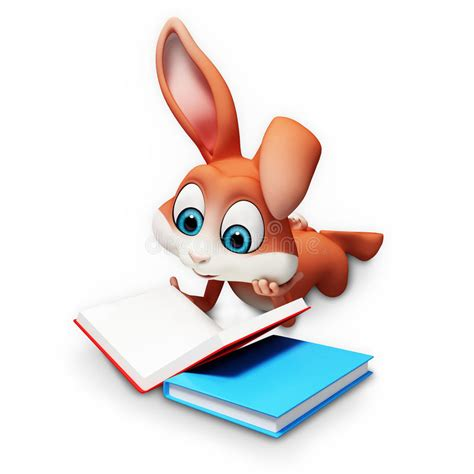 easter bunny book easter bunny reading a books stock illustration