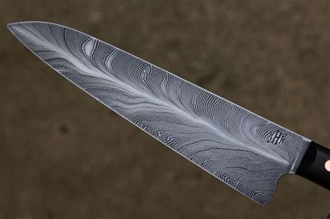 making kitchen knives feather damascus kitchen knife purty knife making