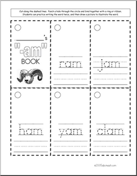 am word family worksheets worksheet word family am words abcteach