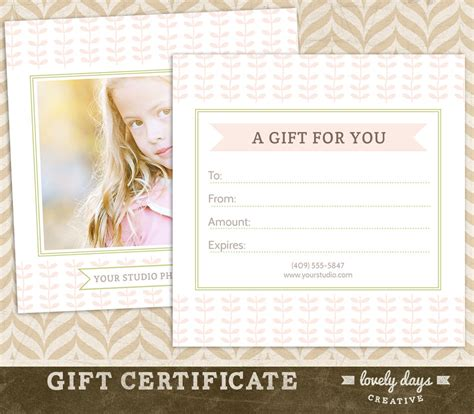 free photography gift certificate template photography gift certificate template for professional