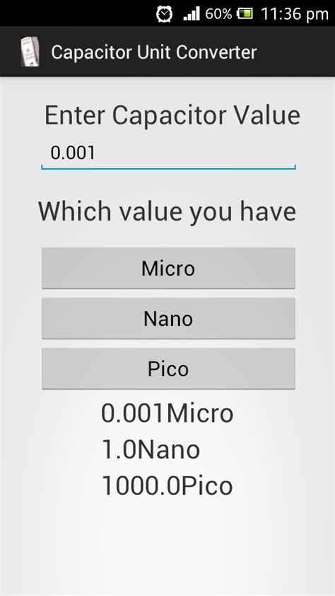 capacitor code app capacitor unit converter android apps on play