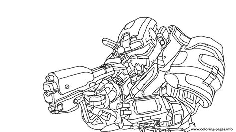 Halo Reach Spartan Coloring Pages Printable Spartan Coloring Pages