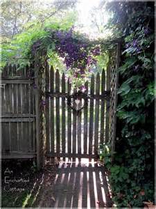 clematis rustic fence old gates and doors pinterest