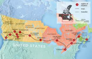 Canada Train Map by Highlights From Canada S Coast To Coast By Train