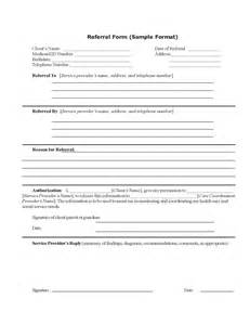referral form template pin sle referral form on