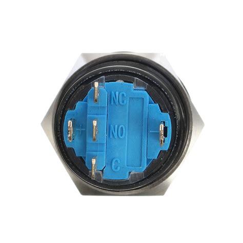 Led 12 1 Big Pin 19mm 12v 5 pin led light metal push button momentary switch alex nld