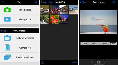 nikon wireless mobile utility app  pictures