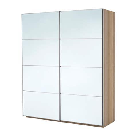 ikea pax wardrobe mirror pax wardrobe white stained oak effect auli mirror glass