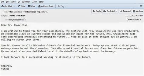 Offizielle E Mail Englisch Die Klitschko E Mails Zeigen Wie Klitschko F 252 R Geld Sein Land An Die Nato Verriet Chemtrail De
