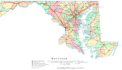 maryland map maryland printable map