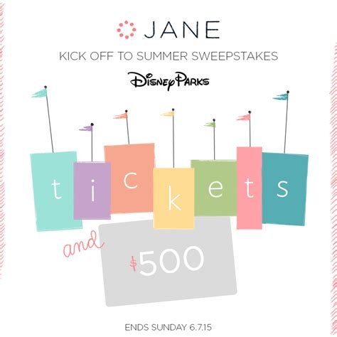 Disney Summer Sweepstakes - giveaway the great disney parks summer sweepstakes with jane