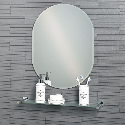 Bevelled Bathroom Mirror by Buy Frameless Oval Bevelled Edge Quot Lincoln Quot Bathroom Mirror
