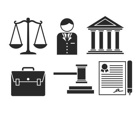 lawyer logo vector free lawyer vector icon set vector graphics freevector