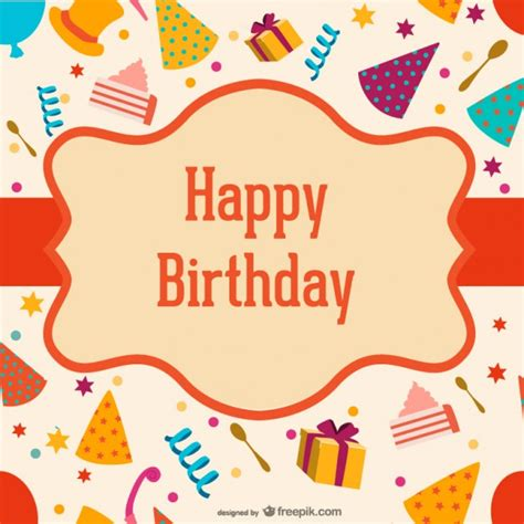 birthday labels template free birthday label hats and boxes vector free