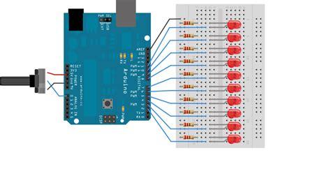 led bar graph resistors arduino kit wires breadboard led resister potentiometer ir blue lcd uno mega