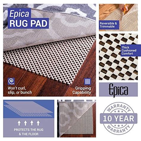 sure grip rug pad epica grip non slip area rug pad 5 x 8 for any surface floor keeps your rugs safe