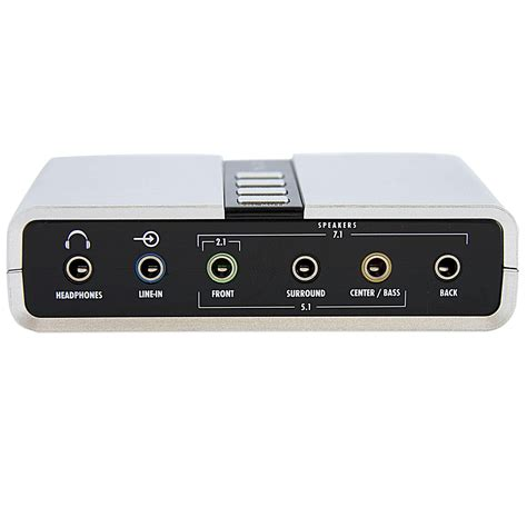 Usb Sound Card External startech 7 1 usb audio adapter external