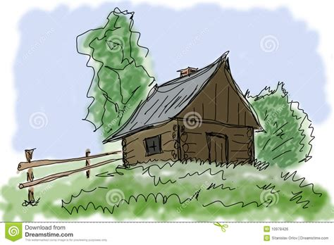 small village house plans small house in village stock illustration image of cartoon 10978426