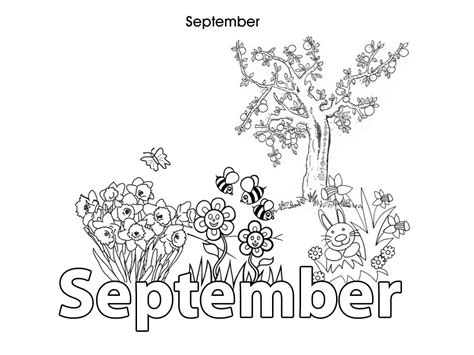 Coloring Pages For The Month Of September