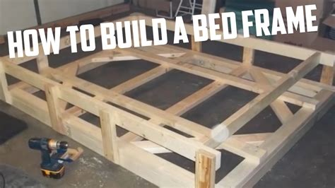 how to make bed frame how to build a bed frame diy project