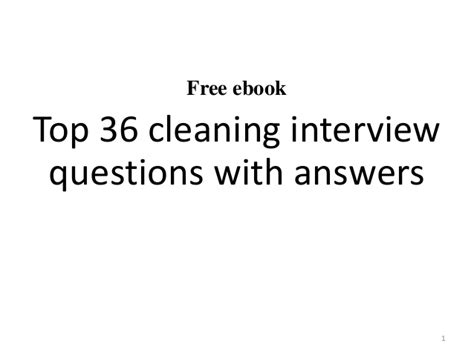 Or Questions Clean And Top 10 Cleaning Questions And Answers
