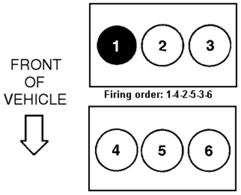 solved firing order diagram ford escape 2001 3 0 fixya