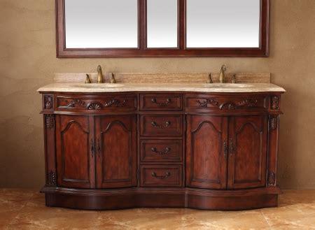 double sink bathroom vanity  travertine