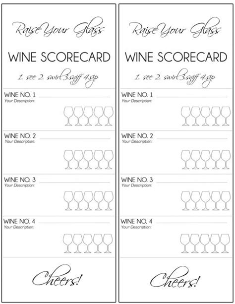 wine tasting cards templates wine tasting score cards search wine notes