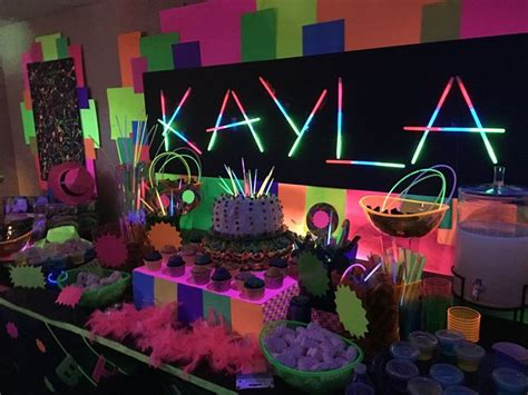 party themes glow in the dark 5 captivating teen birthday party ideas birthday decoration