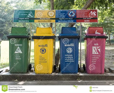 Recycle With Style by Four Styles Trash Bins Editorial Stock Image Image 49531859