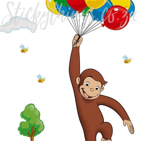curious george wall stickers curious george monkey wall stickythings wall