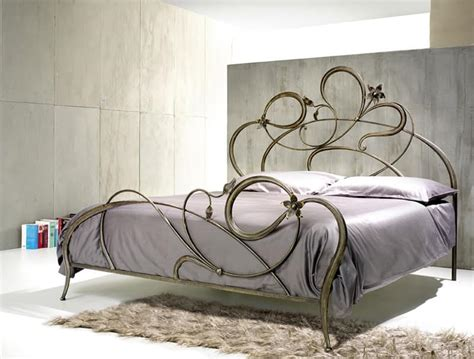 wrought iron beds double bed in wrought iron curved lines idfdesign