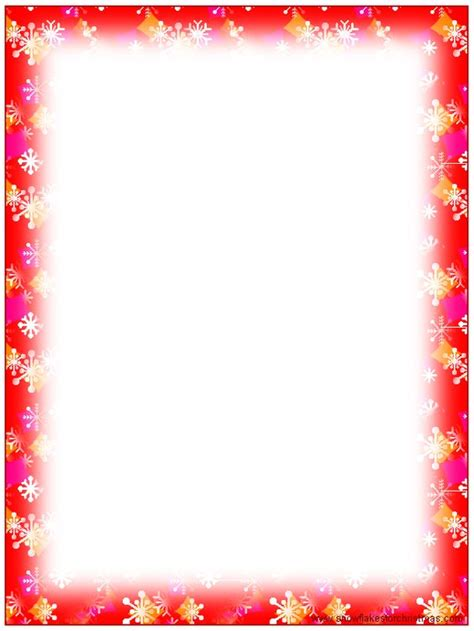 printable snowflakes stationery paper free printable christmas snowflake stationery borders