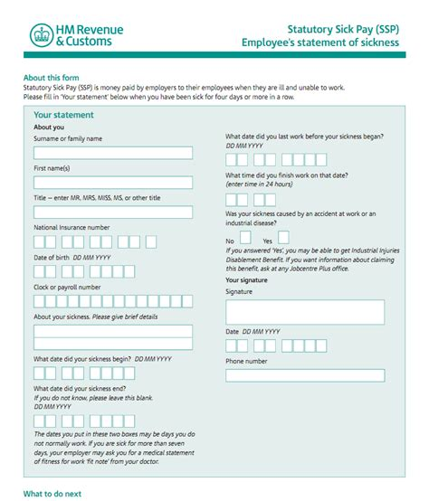 self certification sickness form template the qca self certification the qca