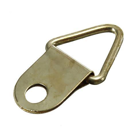 frame hanger 100x picture frame hanging triangle d rings frames hanger hooks gold ebay