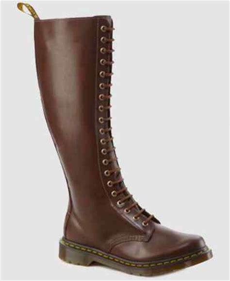 Boots Pria Drmartens High 8 dr martens knee high 1b60 boots brown lace up zip uk 8 docs 20 leather 163 75 ebay
